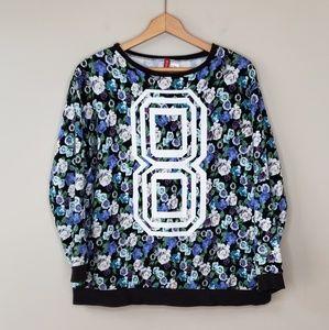 H&M Divided Floral 8 Sweatshirt